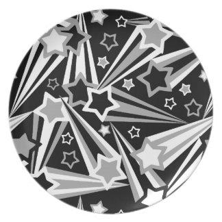 El espacio protagoniza la placa negra plato de comida