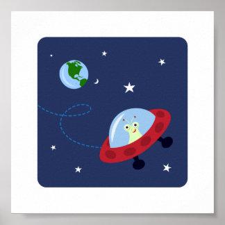 El espacio y el planeta lindos del extranjero i co impresiones