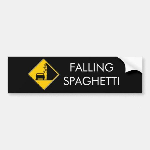 El espagueti cae pegatina de parachoque
