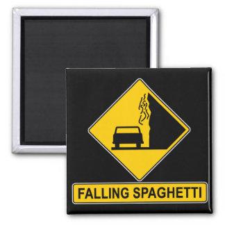 El espagueti cae imán cuadrado