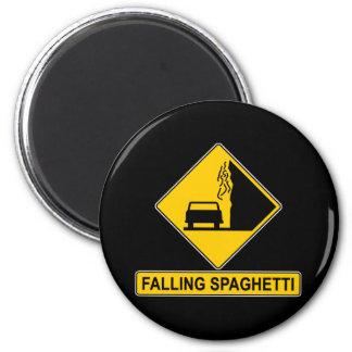 El espagueti cae imán redondo 5 cm