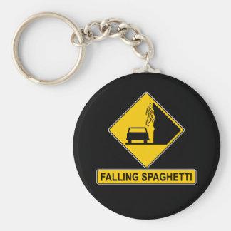 El espagueti cae llavero redondo tipo pin