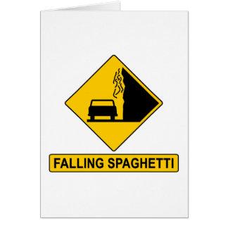 El espagueti cae tarjeta de felicitación