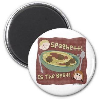 ¡El espagueti es el mejor! Imán Redondo 5 Cm