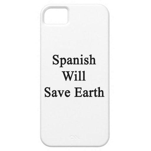 El español ahorrará la tierra iPhone 5 coberturas