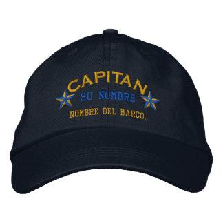 EL ESPAÑOL Capitan Nombre del barco y su nombre. Gorra De Beisbol
