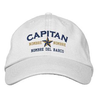 EL ESPAÑOL Capitan Nombre del barco y su nombre. Gorro Bordado