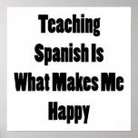 El español de enseñanza es qué me hace feliz impresiones