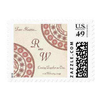 El español indio personalizó sellos del correo del
