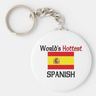 El español más caliente del mundo llavero redondo tipo pin
