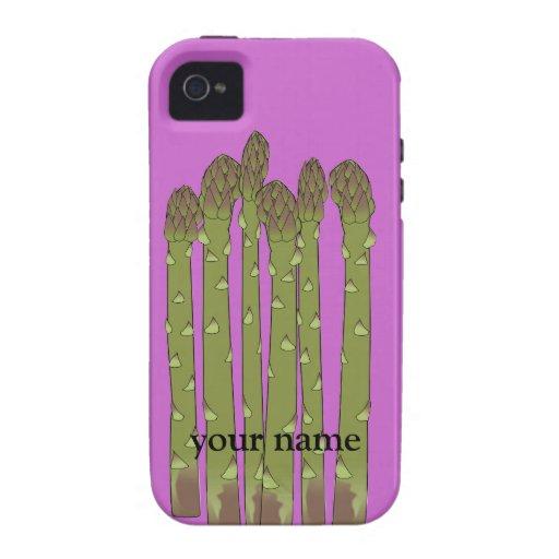 El espárrago alancea el iphone personalizado las carcasa vibe iPhone 4