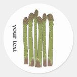 El espárrago alancea los Veggies vegetales del Etiqueta Redonda