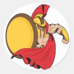 El espartano etiquetas redondas