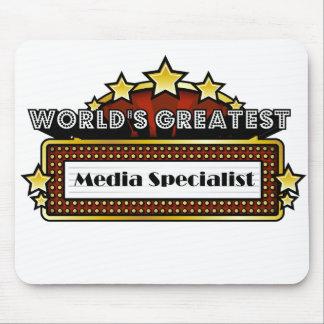 El especialista más grande de los medios del mundo tapete de ratón