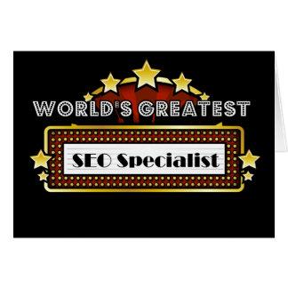 El especialista más grande del SEO del mundo Tarjeta De Felicitación
