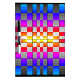 El espectro del arco iris del caleidoscopio colore pizarras blancas de calidad
