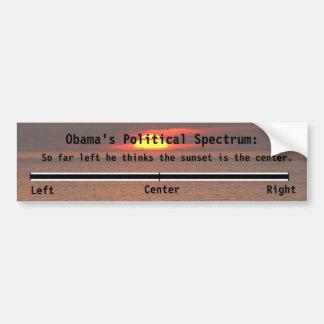 El espectro político de Obama Pegatina Para Auto