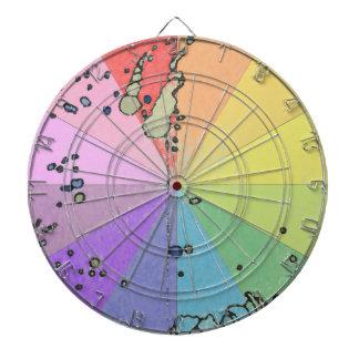 El espectro suave del arco iris del arte colorea e