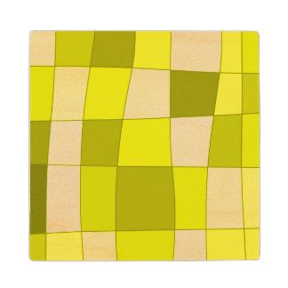 El espejo de la diversión llega amarillo posavasos de madera