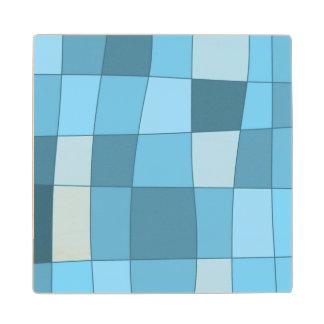 El espejo de la diversión llega el azul de cielo posavasos de arce