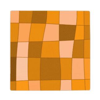 El espejo de la diversión llega el naranja posavasos de madera