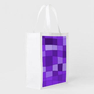 El espejo de la diversión llega la violeta bolsas de la compra