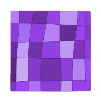 El espejo de la diversión llega la violeta posavasos de arce