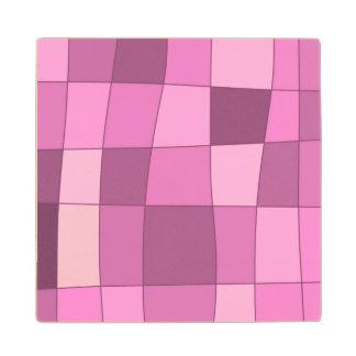 El espejo de la diversión llega rosa posavasos de madera