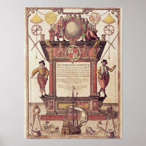 El espejo de los marinos, titlepage impresiones