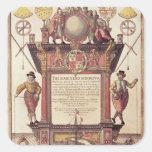 El espejo de los marinos, titlepage calcomanía cuadrada