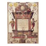El espejo de los marinos, titlepage tarjetas postales
