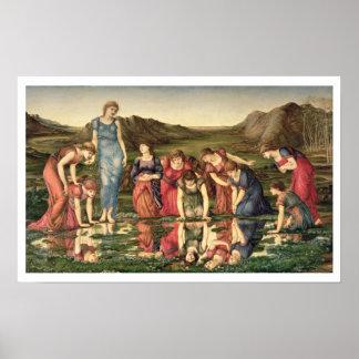 El espejo de Venus, 1870-76 (aceite en lona) Poster
