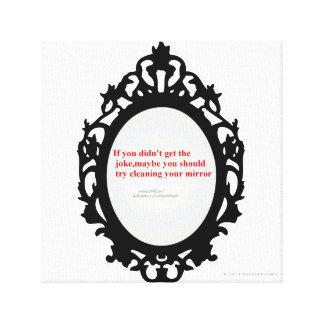 El espejo descarado impresion de lienzo