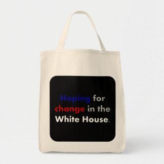 El esperar cambio en la casa blanca bolsas