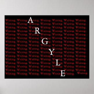 El esperar de Argyle Posters