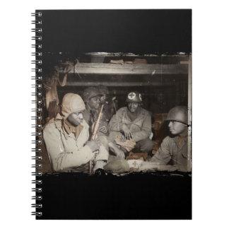 El esperar de los médicos de WWII Libro De Apuntes