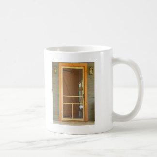 el esperar en el thedoor taza básica blanca