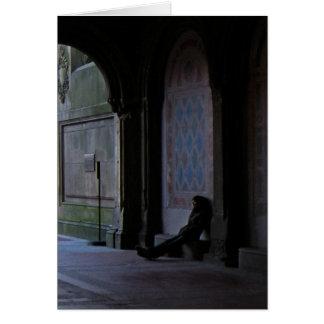 El esperar en la tarjeta de nota de Bethesda