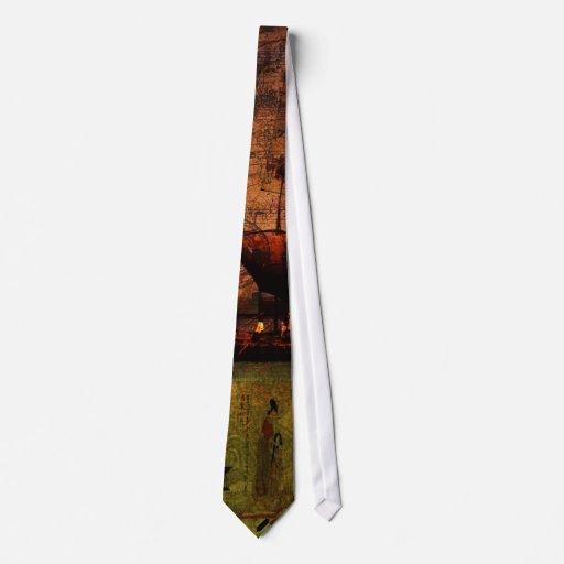 El esperar en tierra seca corbata personalizada