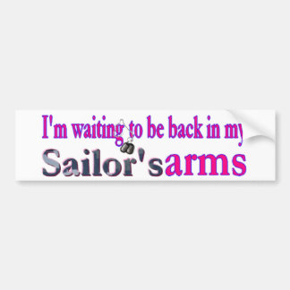 El esperar en un marinero pegatina para auto