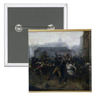 El espía, episodio del cerco de París, 1871 Pin Cuadrada 5 Cm