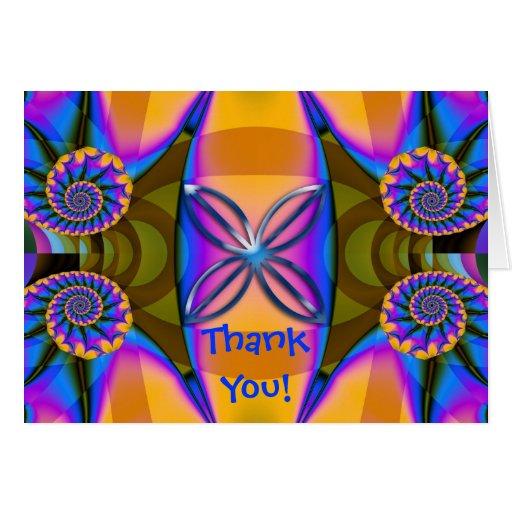 El espiral artístico le agradece cardar felicitación