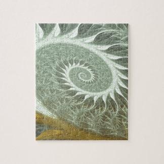 El espiral cósmico - espiral de oro de la geometrí rompecabeza con fotos