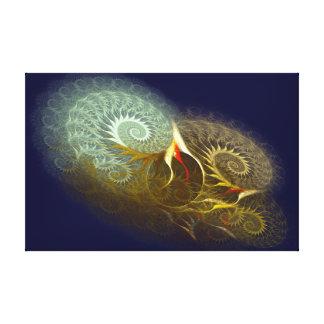 El espiral cósmico impresión en lona