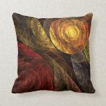 El espiral de la almohada de tiro del arte abstrac