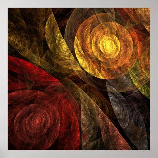 El espiral de la impresión del arte abstracto de póster