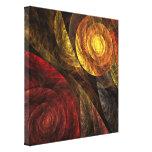 El espiral de la impresión envuelta extracto de la lienzo envuelto para galerias