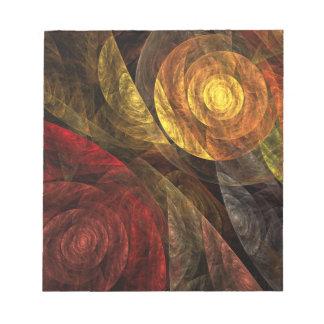 El espiral de la libreta del arte abstracto de la  blocs de papel
