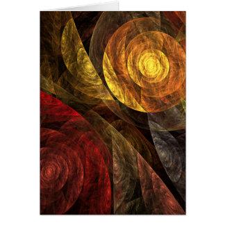El espiral de la tarjeta de felicitación del arte