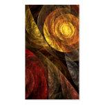 El espiral de la tarjeta de visita del arte abstra